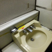 189系車内にある洗面台