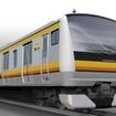南武線に投入されるE233系のイメージ。10月から導入が始まる。
