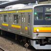 現在南武線で運行されている205系電車。