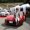 荒選手がプロデュースするトヨタ86ワンメイクレース車両。街乗りを意識してソニックプラスが装着されている。