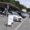 パドックには全国各地の認定販売店が用意したデモカーが並び、気軽に試聴できる体制が整った。