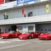 左からTAISAN STARCARD F40、599GTO、F40