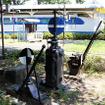 新通町公園(静岡県富士市中央町)にある0系や転轍機。