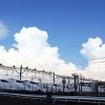 新幹線公園(大阪府摂津市安威川南町)の南側にある新幹線鳥飼基地。