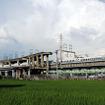 新幹線鳥飼基地北側にある高速貨物列車計画の遺構。