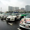 台風が近づく雨の中、1000台の痛車が集まった「痛Gふぇすたinお台場」