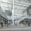 名古屋駅の桜口駅前広場に面した1階ビルエントランスイメージ。
