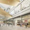 2階歩行者通路から見たタカシマヤ ゲートタワーモールの店舗イメージ。2027年4月のオープンを予定している。