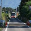 バス専用道を走行する気仙沼線BRTのバス。ICカードは従来のodecaに加えSuicaも利用できるようになる。