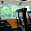 常磐線特急で活躍するE657系電車の車内。コンセントも利用できる