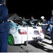 関東運輸局などが東京と茨城で初日の出暴走取締りのための街頭検査を実施