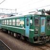 KTRは年内に上下分離方式に移行する予定。ウィラー子会社のウィラートレインズがKTRから施設を借りて列車を運行する。写真は宮福線で運用されているMF100形。