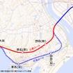 運休区間のうち陸前大塚~陸前小野間は津波対策として内陸寄りのルートに変更される。