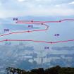 佐世保港クルーズの航行イメージ。写真は弓張岳展望台から眺めた佐世保港