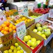 長崎県佐世保市近郊で栽培されている江上文旦も棚に並ぶ