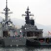 佐世保港クルーズから見えたイージス艦「あしがら」。三菱重工業長崎造船所で建造