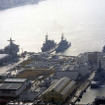 弓張岳展望台から眺めた佐世保港