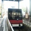 箱根登山鉄道の鉄道線やケーブルカー、箱根海賊船などは平常通り運行している。写真は箱根登山鉄道のケーブルカー。