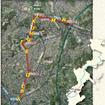 ゆいレール延伸区間(赤線)