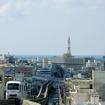 勾配区間を行く沖縄都市モノレール。延伸区間もアップダウンのあるルートとなる