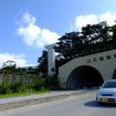 前田トンネルの上を越えるモノレール用橋脚(H地点)