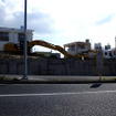 モノレール延伸に向けた工事現場がいくつか見られる