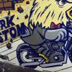 ペイントアーティストのLIVE。『HARLEY-DAVIDSON DARK CUSTOM PARTY』にて。