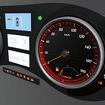最適なHMIを伝えるためにメーターパネルのレイアウトや色を編集できる「Meter Studio」(日本無線HPより)