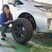 タイヤ交換は手の汚れも気になる…