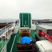 船体をぐるっと回転させて、後進しながら相浦港へ接岸させる