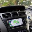 CN-RX02WD。運転席側ダッシュボード奥にあるのはフロントインフォディスプレイのDF-100D