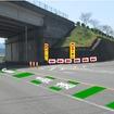 対策の基本パターンで、運転者からの見え方イメージ(高速道路出口部分)