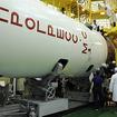 ペイロードシュラウドへ格納されるプログレス補給船