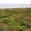 角島(山口県下関市)の北東端にある「牧崎風の公園」。トレイルランやジョギングにもいいロケーション