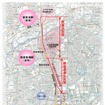 北急の延伸区間。千里中央駅から新御堂筋を北上して箕面新都心を結ぶ。