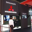 三菱ブースのスマートフォン連携ディスプレイオーディオ体験コーナー(東京モーターショー15)