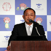 大阪狭山市グリーン水素シティ宣言式典(12月28日、東京)に登壇した豊田TRIKEの豊田浩之会長