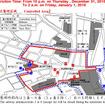 渋谷駅前周辺は、31日22時頃~1日2時頃まで交通規制が行われる