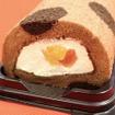 人気キャラクター「ドラえもん」をモチーフに使用したロールケーキ