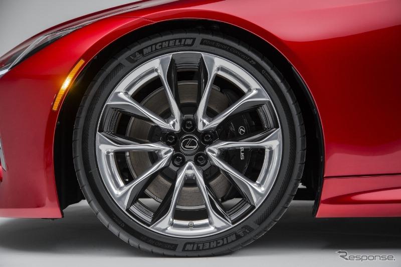 Michelin Pilot Sport >> レクサス LC500、ミシュランのランフラットタイヤを純正装着   レスポンス(Response.jp)