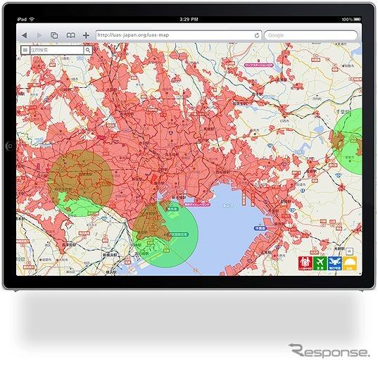 無人航空機専用飛行支援地図サービスのイメージ
