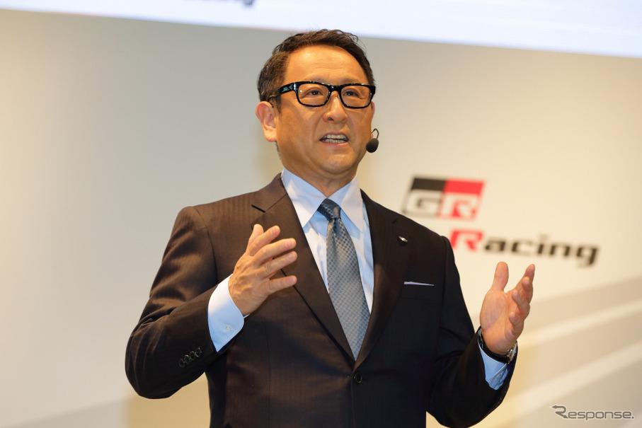 トヨタの豊田章男社長。