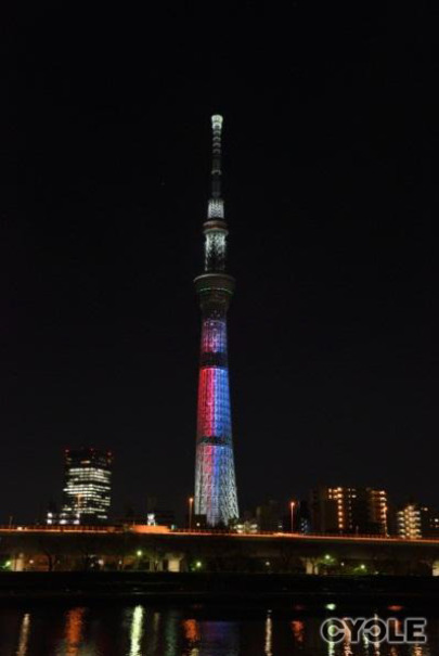 東京スカイツリー、「スター・ウォーズ」公開記念ライティングを再点灯2月8日から