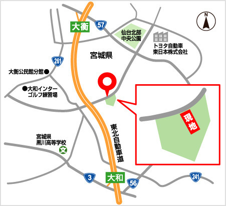専用練習場「ブーメラン」の開設予定地の略図