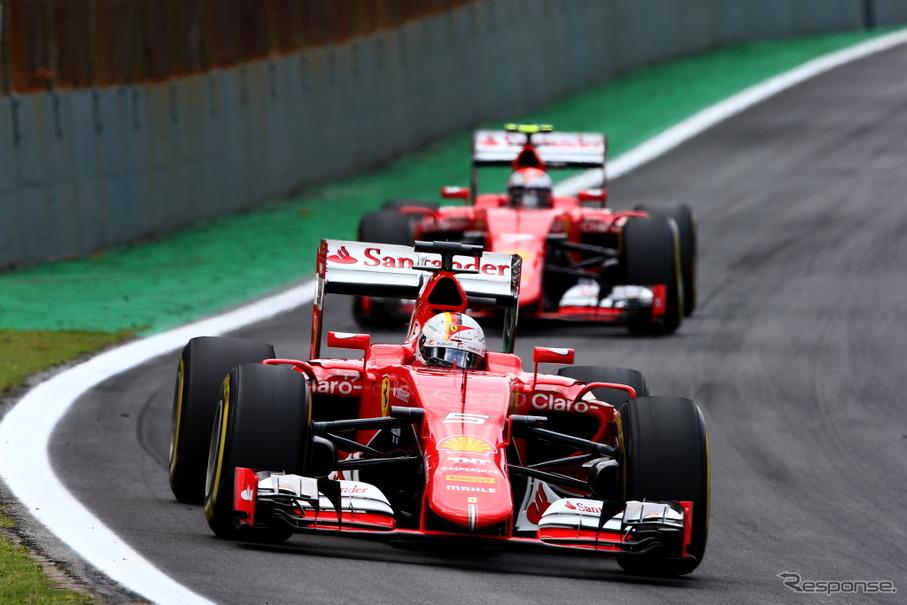19日に2016年型マシンを発表するフェラーリ(写真は2015年型マシン)
