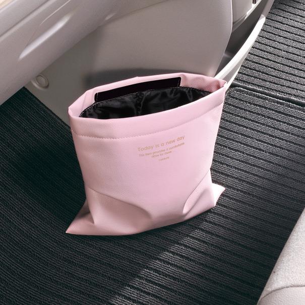 [写真01] カーメイト『フック付ダストボックス ミニ FOR GIRLS ピンク』