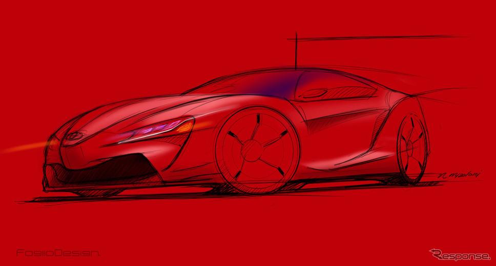 トヨタ スープラ&BMW Z5、レンダリングイラスト