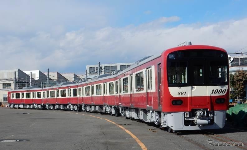 新1000形1800番台は3月4日から運行される。写真は1800番台の1801編成。