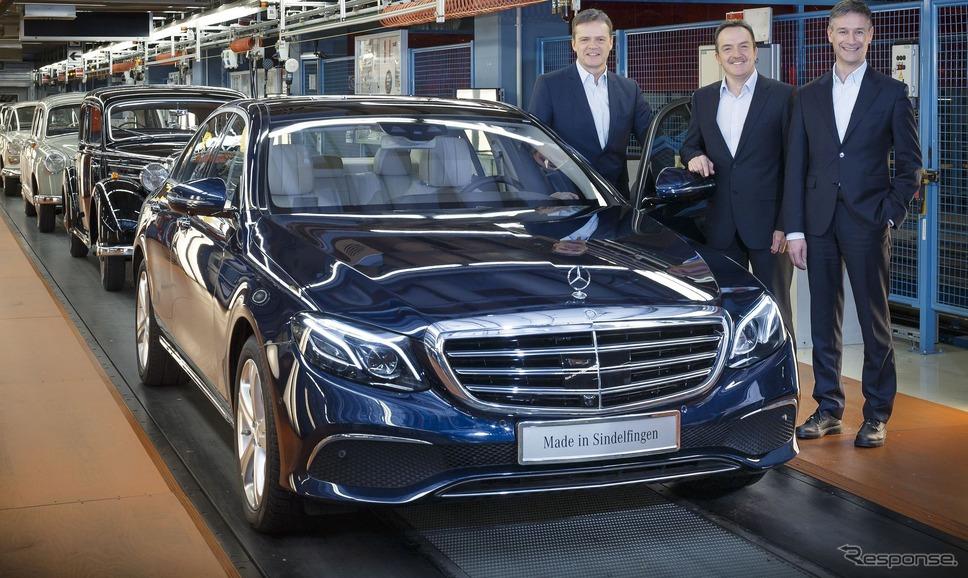 ドイツ工場で生産が開始されたメルセデスベンツEクラスセダン 新型