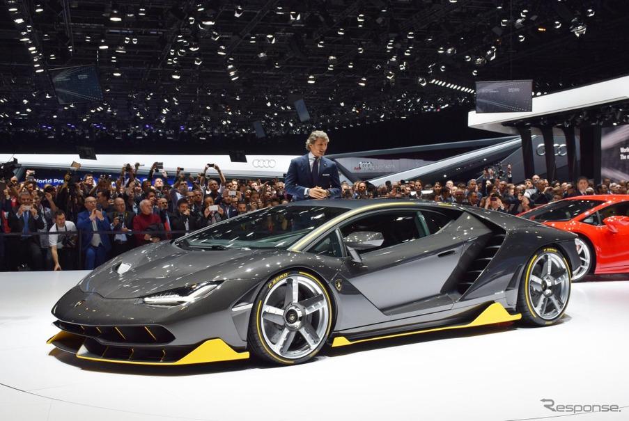 初公開となったランボルギーニの新型スーパーカー『センテナリオ』